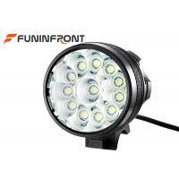 Ultra Bright 12T6 Cree Front Bike Light / 18000 Lumens Bicycle LED Lamp Manufactures