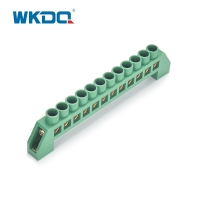 Screw Connection Terminal Grounding Busbar Electrical Terminal Blcok With Holder Manufactures