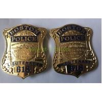 Custom Police Badge Challenge Coins with special police design and safety pin attachment Manufactures