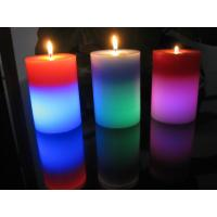 Light Activated Pillar Flameless LED Candles Rainbow Color Changing Eco Friendly Manufactures