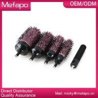 Round Plastic Nylon Brush Detachable Ceramic Ionic Hair Brush Manufactures