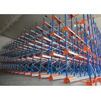 Semi Automatic Heavy Duty Storage Racks 50 Pallets Deep Shuttle Storage System Manufactures