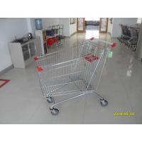 Buy cheap Metal Steel 240L Supermarket Shopping Carts With 4*5 Inch Flat Casters from wholesalers