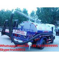 Quality Factory customized JAC brand 4*2 LHD 4m3 fecal suction truck for sale, HOT SALE! for sale