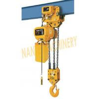 Quality HHBB Series Electric Chain Hoist - Capacity of 7.5T for Single / Double Speed for sale
