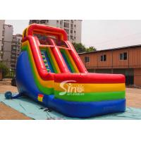 Colorful Outdoor Kids Biservice Wet N dry Commercial Inflatable Slides For commercial used Manufactures