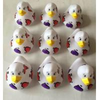Quality Red Heart Shaped Custom Rubber Ducks Water Resistant Non Toxic Safe For Kids for sale