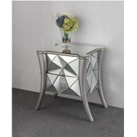 Leaf Faceted Mirror Side Tables Bedroom W50 * D44 * H62cm Size Solid Wood Manufactures