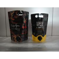 Laminated Material Printed Stand Up Pouch With Spout / Juice Or Wine Bag In Box Manufactures