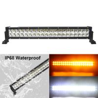 Fast Delivery!120w Color Changing Flashing Amber Warming 24inch Led light bar Truck Manufactures