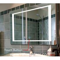 LED Illuminated Bedroom Mirrors , Custom Size Bathroom Mirror With Lights Manufactures