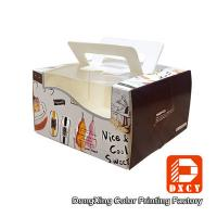 Quality Glossy Varnishing 8 Inch Cake Packaging Boxes , Open Window Personalised Cake for sale