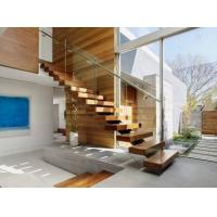 Timber Wooden Modern Glass Staircase Railing Wire Banister Indoor Decoration Manufactures