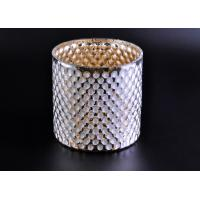 Create Diamond Shining Votive Glass Candle Holder With Woven Pattern Manufactures
