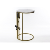 Marble Grain 65cm High MDF Side Tables With USB Charge Manufactures