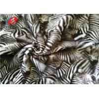 Short Hair Printed Zebra Stripe Polyester Velvet Fabric , Minky Plush Toy Fabric Manufactures
