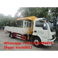 Quality Dongfeng duolika 4*2 LHD 4 ton military xcmg small truck crane for sale, best for sale
