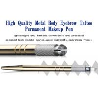 Eyebrow Embroidery Handmade Cosmetic Tools Permanent Makeup Tools Gold Manual Tattoo Pen Manufactures