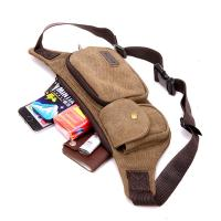 0.17 Kg Climbing Tactical Men Running Waist Pack With Casual Retro Canvas Manufactures