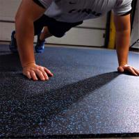 China Long service life rubber flooring tiles with color speckles for fitness facility on sale