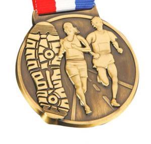 New design custom sports awards soft enamel gold metal medal with ribbon lanyard Manufactures