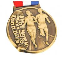 Buy cheap New design custom sports awards soft enamel gold metal medal with ribbon lanyard from wholesalers