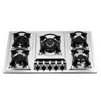 86cm Luxury Stainless Steel 5 Burner Gas Hob , Five Burner Gas Stove with Safety Manufactures