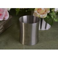 23 Oz Silver round metal candle holder bulk with Lid , customized shapes Manufactures