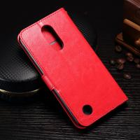 Quality Protective Leather Lg K8 Wallet Case , 5.3 Inch Lg K8 Flip Cover With Card Slot Function for sale