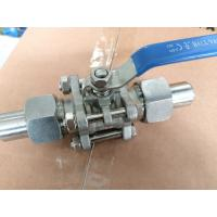 Three Piece BW Stainless Steel Ball Valve with Clamp Butt Welded End 1Inch Manufactures