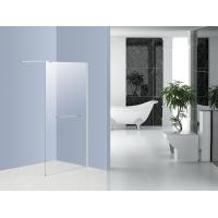 Bath Glass Shower Screen Walk In Shower Enclosures 1000MM Chrome Holder Manufactures