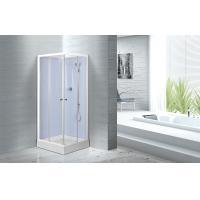 Quality Waterproof White Painted Profiles Glass Shower Cabins , Glass Shower Stall Kits for sale