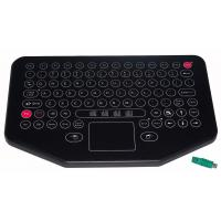Water proof movable desktop industrial membrane keyboard with sealed touchpad Manufactures