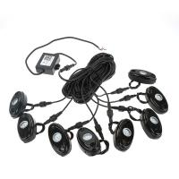 8Pcs RGB LED Rock Lights Wireless Bluetooth Music Flashing Multi Color Offroad Manufactures