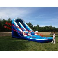 giant inflatable pool big wave water slide for adult children inflatable pool with slide Manufactures