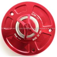 Aluminum Motorcycle Gas Caps / Replacement Fuel Cap Cover For Kawasaki Ninja 650R ER6n Versys Manufactures