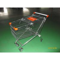 150 L European Style Shopping Trolley Carts Anti Theft For Supermarket Manufactures