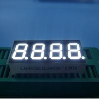 """Ultra White 0.36"""" Common Cathode 4 Digit 7 Segment Led Display For Humidity Indicator Manufactures"""