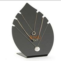 Black 5mm Acrylic Jewelry Display Stands Leaf Shaped For Necklaces Manufactures
