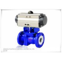 Floating 2 Inch Motorized Ball Valve , Two Piece Type Double Acting Cylinder Control Valve Manufactures