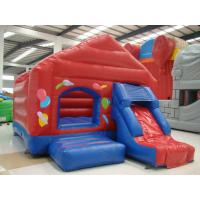 Customized Red Inflatable Sport Games / Funny Bouncy Jumping Castles Manufactures