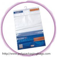 Colorful Self Adhesive Printed Poly Bags With Hangers , Moisture Proof Manufactures