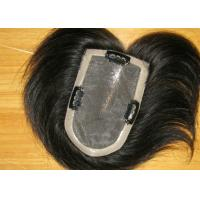 China 8 Inch Straight Chinese Human Lace Top Closure Toupee / Black Hair Weave on sale