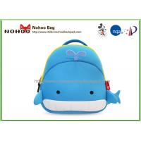 Lightweight soft Lovely Whale Preschool outdoor Toddler Book Bag Manufactures