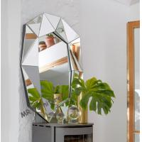 Multi Bevelled 3D Wall Mirror Decoration Mirrored Glass Panel Light Weight Manufactures
