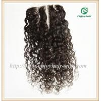Lace top closure 5''x5''brazilian virgin hair natural color wave 10''-24''L three way Manufactures