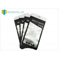 Buy cheap Black Aluminum Foil Bags Zipper Clear Matte Window Socks Packing from wholesalers