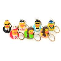 Vinyl Mini Rubber Duck Keyring Environmental Protection For Children Manufactures
