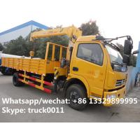 Dongfeng duolika 4*2 LHD 4 ton  military xcmg small truck crane for sale, best price 4tons 120hp truck mounted crane Manufactures