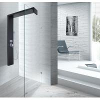 Black Shower Column 1500 X 900 Shower Enclosure With Double Clip SS Flexible Hose Manufactures